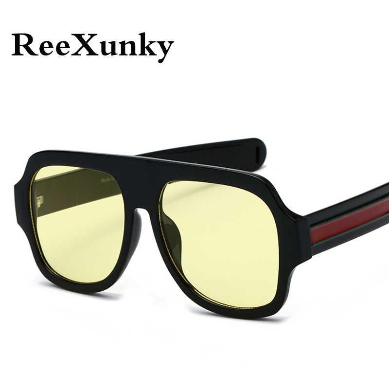 699c04a3752d ... Newest Trend 2019 Oversized Visor Sunglasses Men Women Retro Shade Sun  glasses Brand Design Black Yellow ...