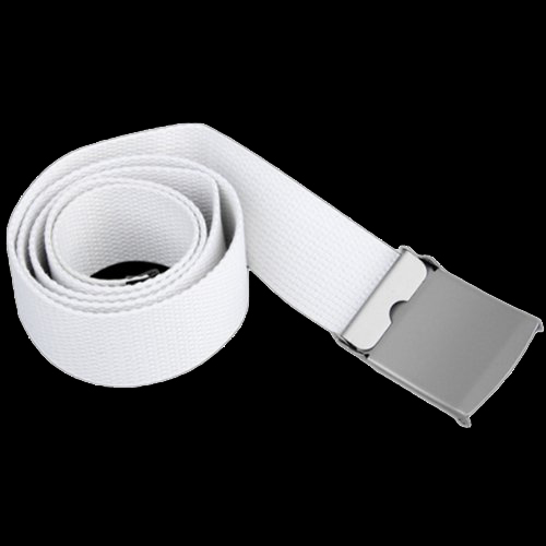 Canvas cotton white belt belts textile Ribbon belt
