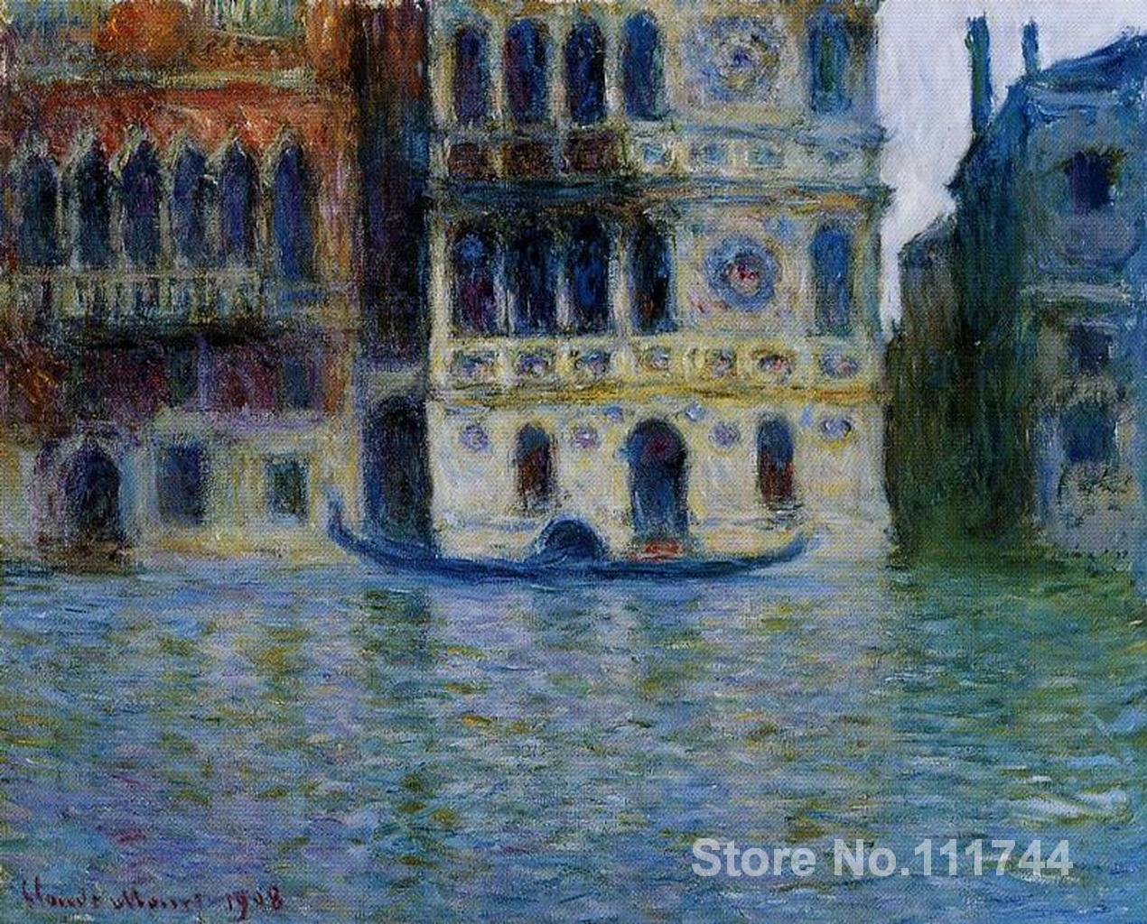 Copy oil paintings famous artist Palazzo Dario Claude Monet artwork handmade for home wall decorationCopy oil paintings famous artist Palazzo Dario Claude Monet artwork handmade for home wall decoration
