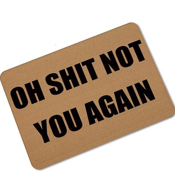 Halloween Doormats Funny Sign \