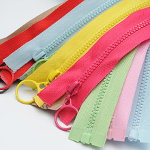 14 colors Mix 3# resin zipper 25cm/60cm Candy zippers round ring slider for DIY Sewing Bag garment accessories