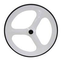 3K Gloss White Color 3 Spoke Carbon Wheel Road Carbon Bicycle Wheels