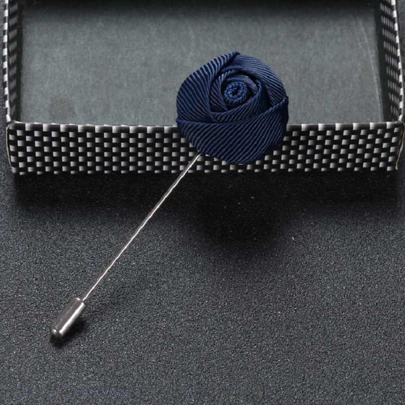 Penjahit Smith Top Fashion Buatan Tangan Bunga Kerah Pin Setelan Boutonniere Solid Rose Bentuk Tongkat Bros Kualitas Tinggi Pria Aksesori