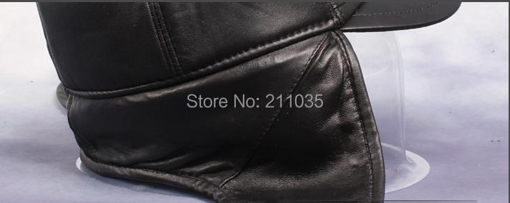 Hot Sale Man Winter Plus Velvet Sheepskin Caps Male Oversized Winter Warm Leather Ear Protection Hat Qc