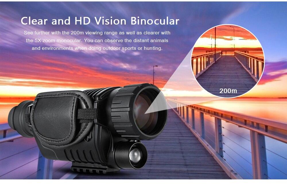 747408ec7bcd2 SUNCORE 5X40 binóculos de visão noturna 200 M de Visão Noturna ...