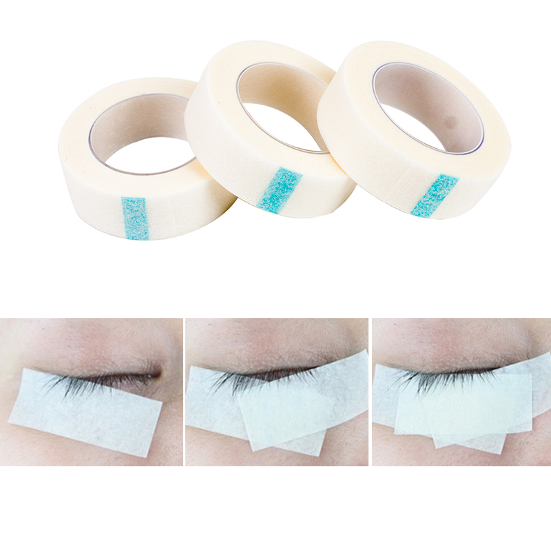 Professional 3Rolls Eyelash Extension Lint Free Eye Pads White Paper Under Patches Tool for False Lashes Patch Medical Tape