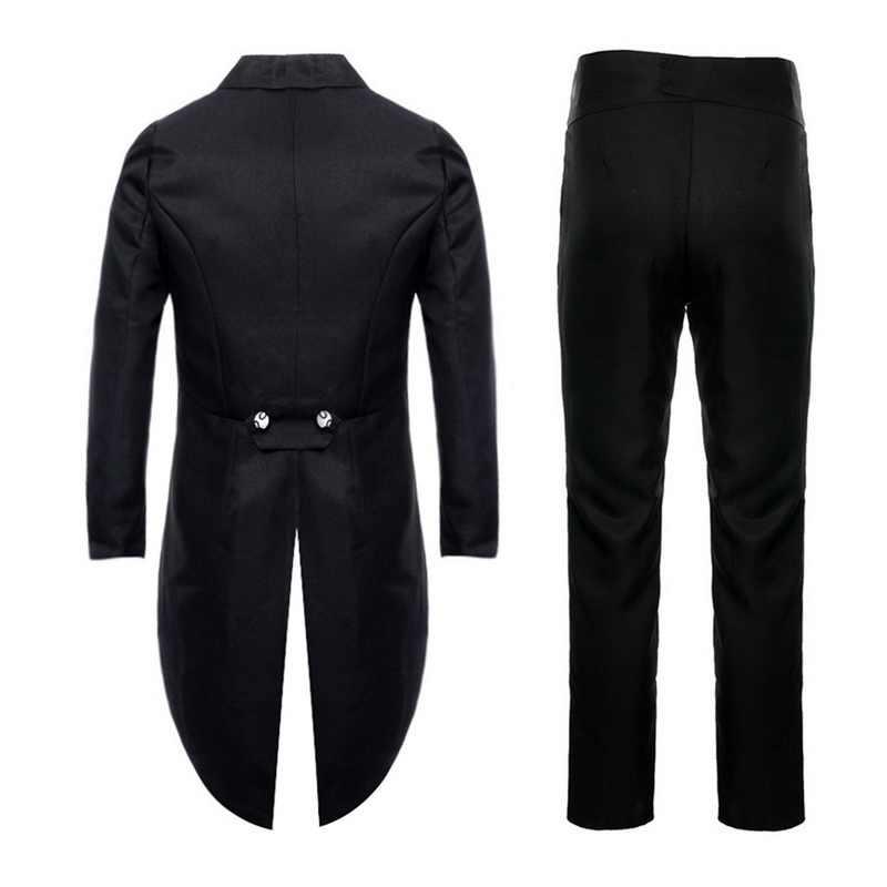 Puimentiua 黒薄いドレススーツ男性男性タキシードスーツ事業の正式なブレザーオフィスパンツセットコスプレ 2 個衣装オム