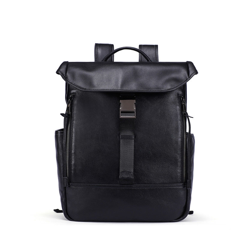 Genuine Leather Men Backpack Male Casual Backpack for Laptop Back Pack Travel Business Bag Multi-function Leather Backpack NEW genuine leather men backpacks for man laptop travel backpack fashion man backpack business cowhide leather male back pack page 1
