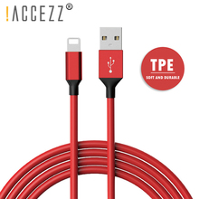 !ACCEZZ Sync Data TPE Cord USB Charging Cable For iPhone X XS MAX XR 8 7 6S 6 Plus 5C SE 5S Charger Cables Ipad Mini Charge