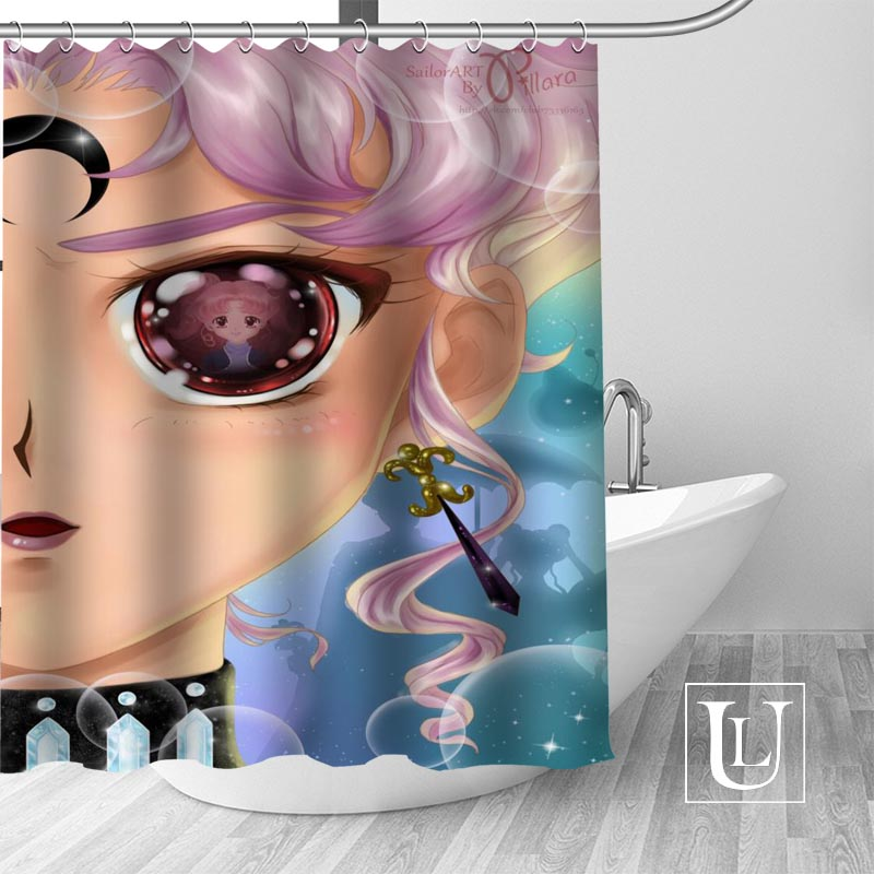 New arrival Modern Custom sailor moon Fabric 100% Polyester Shower Curtain High Quality Washable Bath Decor Waterproof Popular