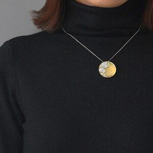 Image 5 - Lotus Vui Thật Nữ Bạc 925 Mỹ Trang Sức Sáng Tạo Thiết Kế Phương Đông Nguyên Tố Vintage Cloud Mặt Dây Chuyền Tròn không có Vòng Cổ