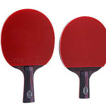 Professional carbon fiber table tennis rackets with double face pimples-in table tennis rubber ping pong racket with a black bag