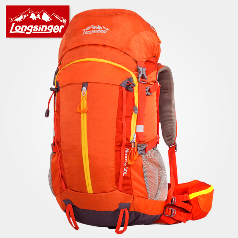 Outdoor backpack professional mountaineering bag 50l large capacity travel hiking backpack camping backpack 75l external frame support outdoor backpack mountaineering bag backpack men and women travel backpack a4809