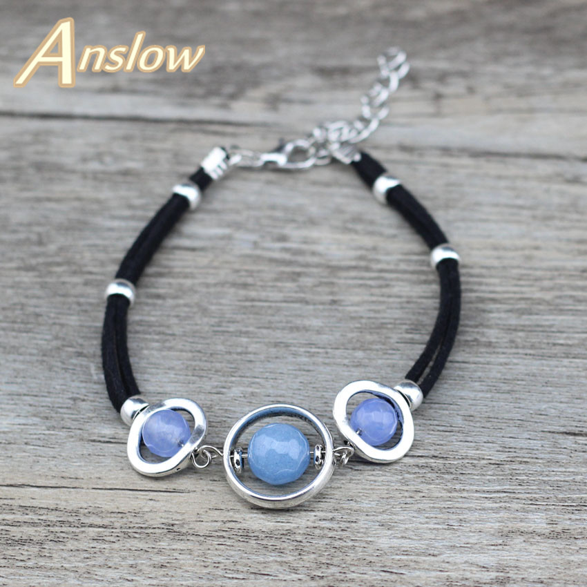 Anslow New Fashion Jewelry Cute Romantic Handmade Vintage Beads Chamrs Rope Women Bracelets & Bangles Girl Friend Gift LOW0625LB ...