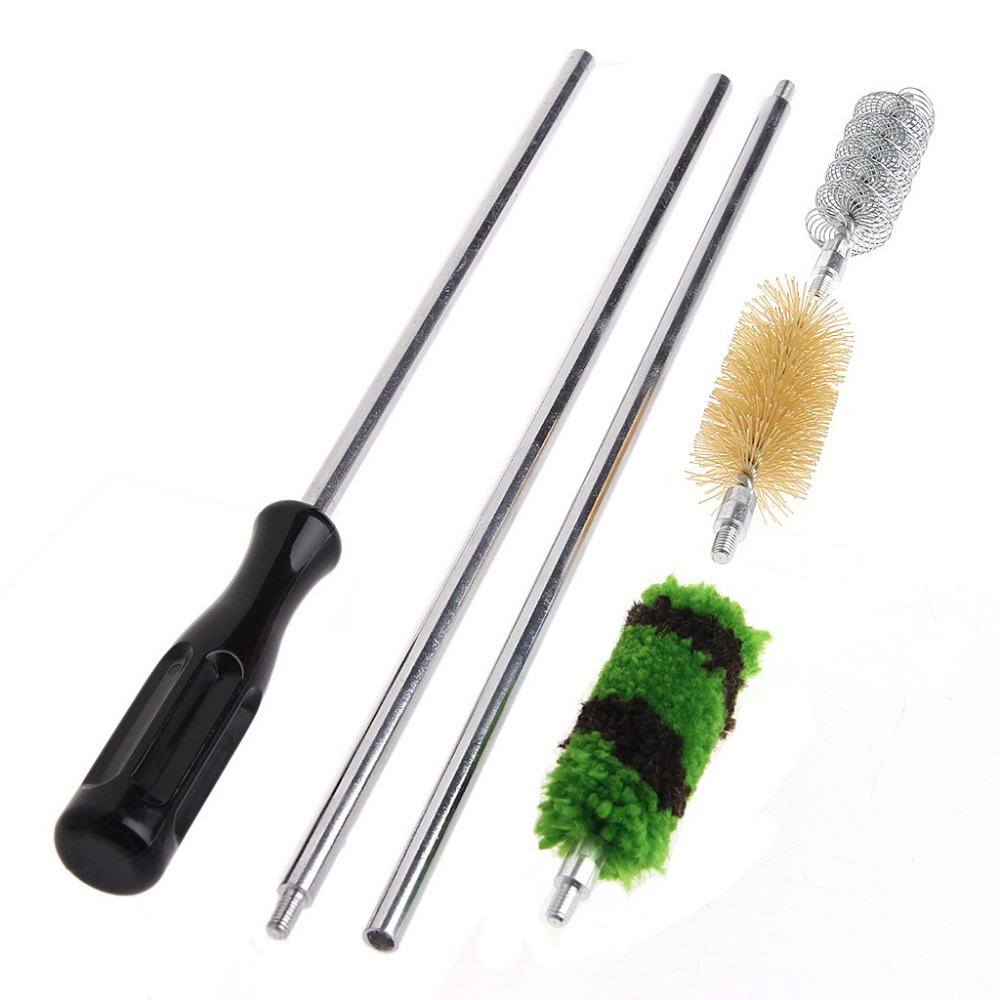 6pcs/Set Aluminum Rod Brush Cleaning Kit For 12 GA Gauge Gun Hunting Tactical Shotgun Rifle Cleaning Brush Set