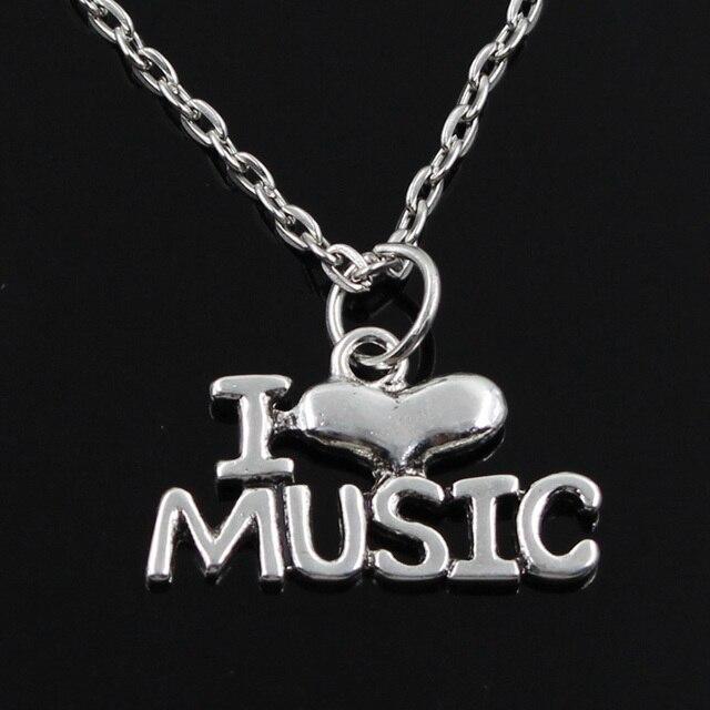 New fashion i love music pendants round cross chain short long mens new fashion i love music pendants round cross chain short long mens womens silver necklace jewelry aloadofball Choice Image