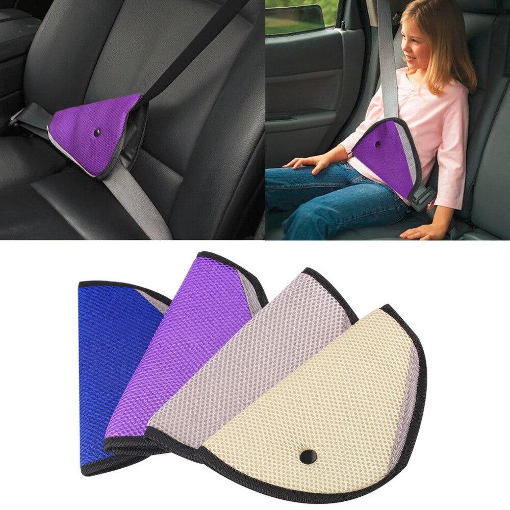 Universal Triângulo Bebê Assento de Segurança Do Carro Cintos Ajustador Clipe Acessórios Criança Protector 4 cores enviar o transporte da gota