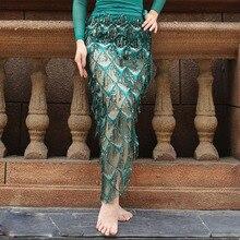 Nuova Nappa di Danza Del Ventre Hip Sciarpa Per La Donna Danza Del Ventre Gonne Per Donna Oriental Costume di Ballo Hip Sciarpa di danza del Ventre