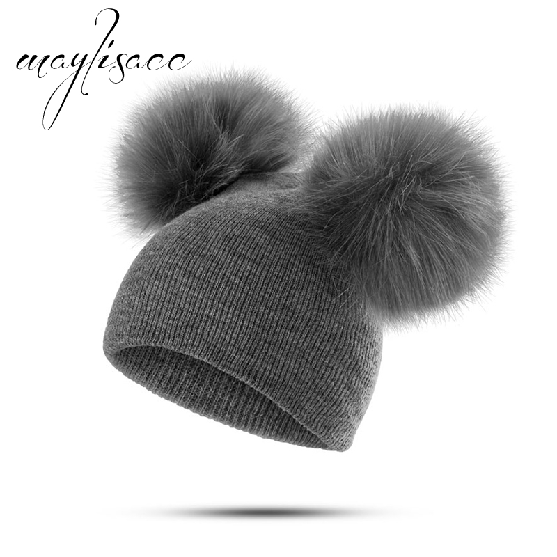 Solid Colors Baby Autumn Winter Warm Kintted Cap Wholesale for 1-4 Years Old Girls Boys   Skullies     Beanies   Cute Hat