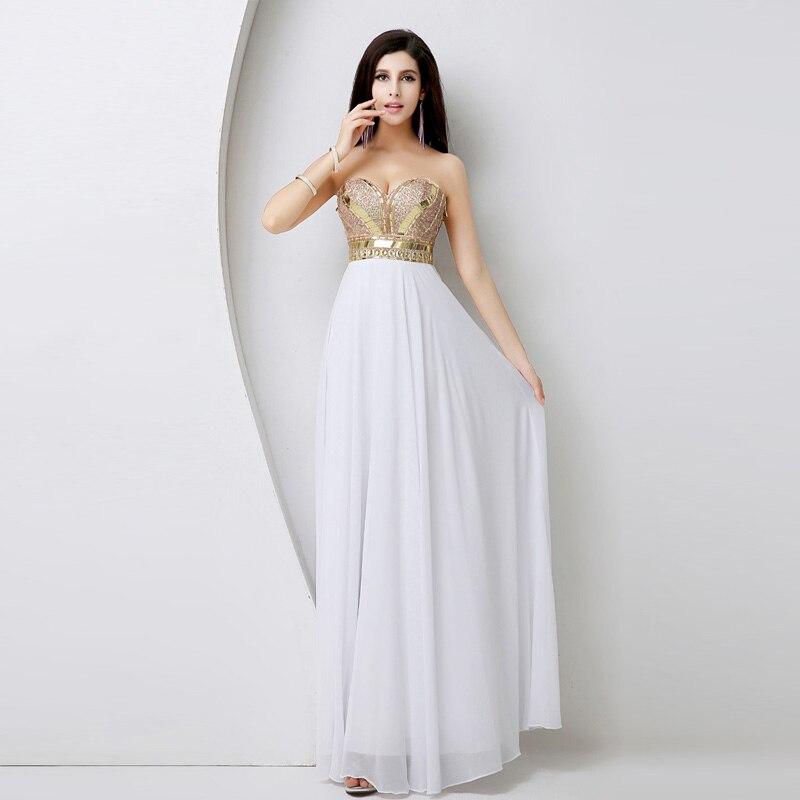 d9ef9352a0de Vestidos de noche blanco con dorado – Vestidos hermosos y de moda 2018