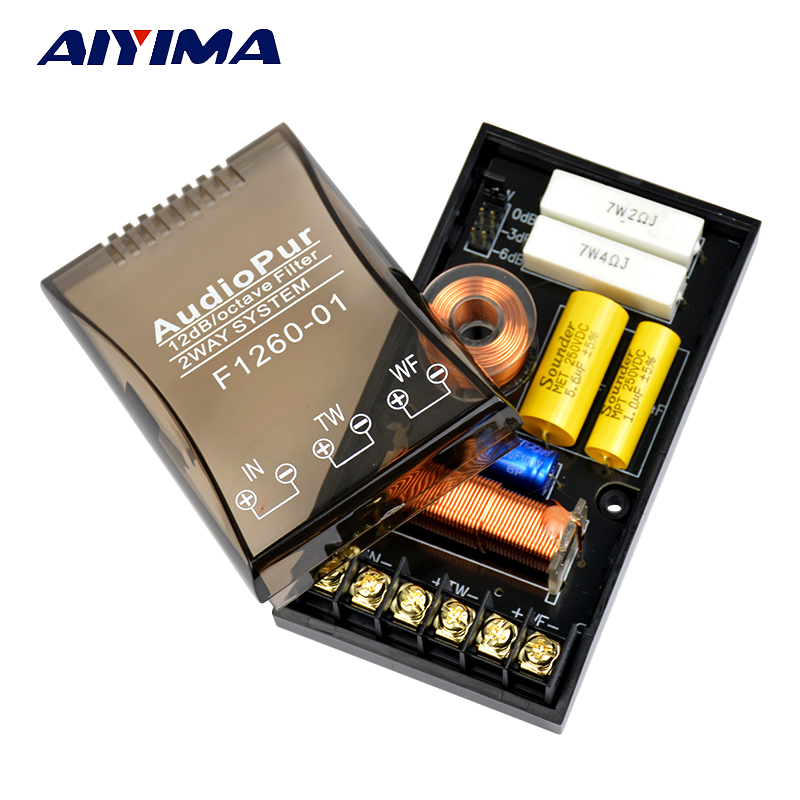 AIYIMA 200W 2 way Car Audio Lautsprecher 1/2 Frequenzteiler DIY Enthusiasten Professionelle Crossover Filter Für Autolautsprecher
