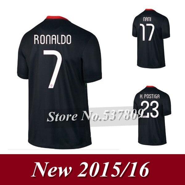 ... new 2015 2016 ronaldo jersey top thai portugal away black soccer jerseys  15 16 j moutinho 5ab2a02fd