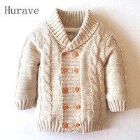 Hurave New Đến Năm 2017 Bé trai Cô Gái Áo Len Trẻ Em Mùa Đông Mùa Thu Dày Khoác dệt kim quần áo mẫu