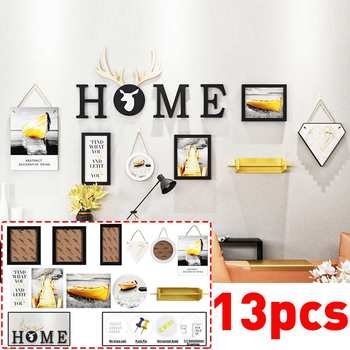 13 Pieces/Set Decorative Painting Photo Frame Family Picture Display Hanging Hook Bathroom Wall Strong Suction Cup Sticking Nail