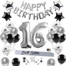 QIFU Happy Birthday Party Decorations Adult Sweet 16 Party Decorations 16th Birthday Party Supplies 16 Birthday Balloon Decor