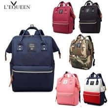 LEQUEEN Brand Shoulder Bag New Waterproof Oxford Cloth Korean Mens Womens Wild Fashion Mummy Baby Diaper Backpack