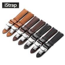 Быстросъемный ремешок для часов iStrap 18 мм 19 мм 20 мм 21 мм 22 мм ремешок для часов с пряжкой для Omega Tissot Seiko Casio ремешок для часов