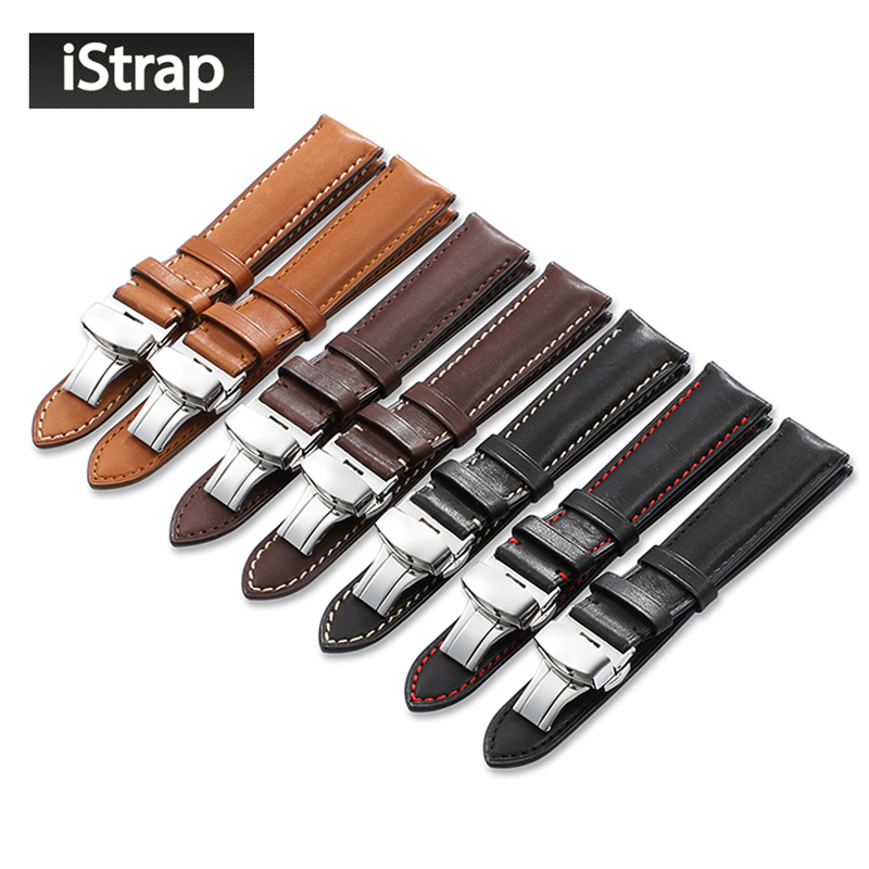 iStrap Quick Release Watchband 18mm 19mm 20mm 21mm 22mm Watch Band Deployment Spænde til Omega Tissot Seiko Casio Watch Strap