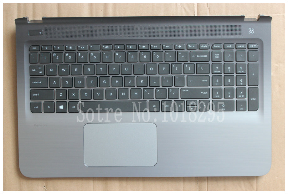 New English Laptop keyboard For HP Pavilion 15-ab 15-ab000 15-ab100 15-ab200 With shell Black US keyboard new russian for hp envy x2 11 g000 g003tu tpn p104 hstnn ib4c c shell ru laptop keyboard with a bottom shell