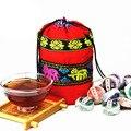 C-PE057 Mini Tuocha 10 tipos de Sabores Diferentes de Chá Pu'erh chinês Emagrecimento Puer chá Cru e Cozido Pu'Er Chá Yunnan saco + gift