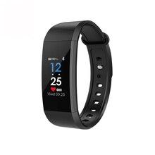 I9 IP68 Impermeável smartwatch Relógio Inteligente Pulseira de saúde Pressão Arterial Monitor de Freqüência Cardíaca Rastreador De Fitness Esporte Banda Inteligente
