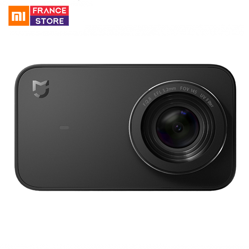 Version anglaise Xiaomi Mijia Mini caméra d'action 4 K Sport vidéo caméra enregistrement WiFi caméras numériques Bluetooth Ambarella A12S75