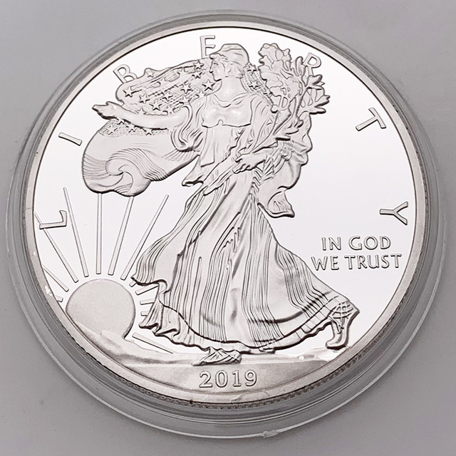 2019American Silver Dollar Eagle Commemorative coin Museum Coin Collection Gifts