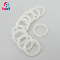 Food Grade White Silicon O Ring Sealing Gasket 5mm Thickness 45/48/50/52/55/58/60/62/65/68/70mm OD Rubber O-rings Seals Grommet