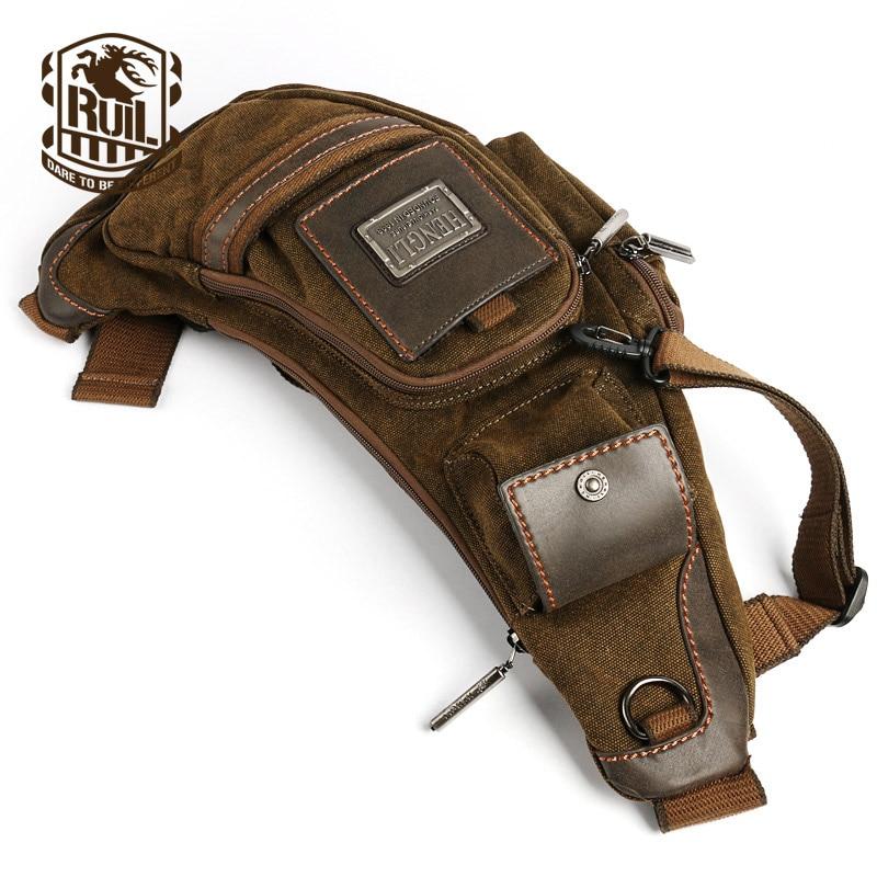Ruil Hot Sale! 2018 canvas versatile casual shoulder messenger bags for men retro travel bag free shipping casual canvas satchel men sling bag
