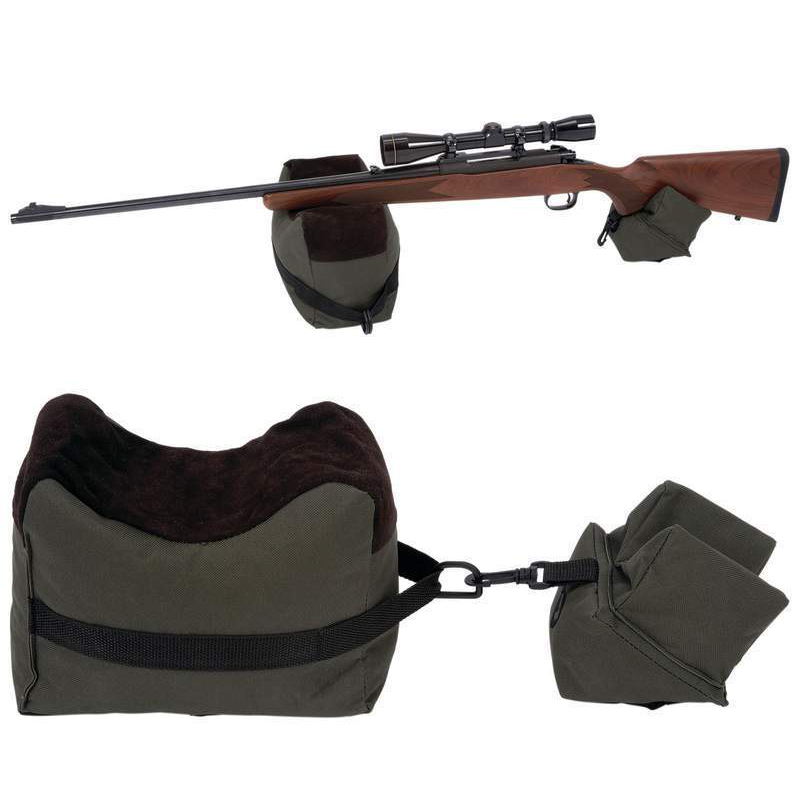 Portable Shooting Front & Rear Bench Rest Bags Gun Rest Range Rifle Target Bench Unfilled Stand Hunting Shotgun Gun Accessories