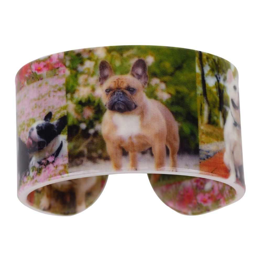 WEVENI Ampla Amor Teste Padrão Do Cão do Pug Bulldog Pulseiras Pulseiras Nova Moda Animais Jóias Para Mulheres Menina Accesssories