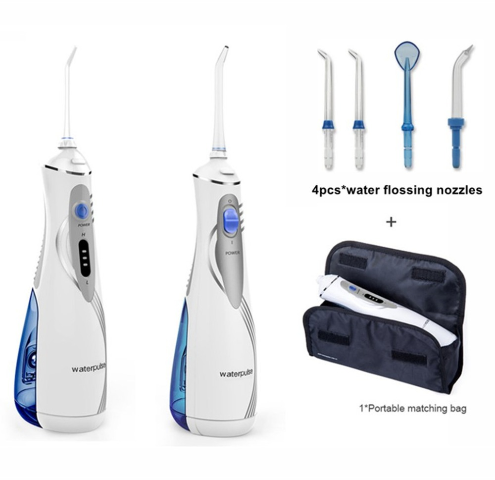Portable Battery Oral Water Irrigator Rechargeable Li Battery Dental Cleaning Machine Oral Helth Care Teeth Cleaning