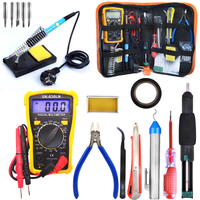 Electronic Maintenance Tools Set Soldering Iron Metal Spudger Pliers Tweezers Digital Multimeter Repair Tools Kit