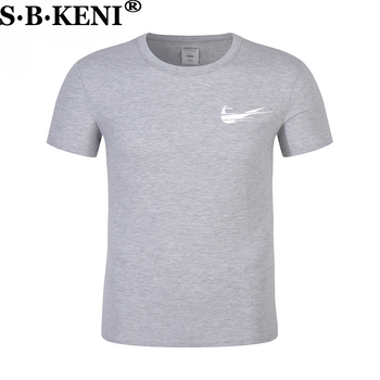 Round collar fashion cotton T-shirt 1