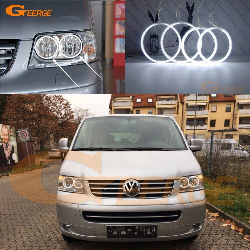 For Volkswagen VW Multivan T5 2003-2009 Excellent Ultra bright illumination CCFL Angel Eyes kit Halo Ring цена