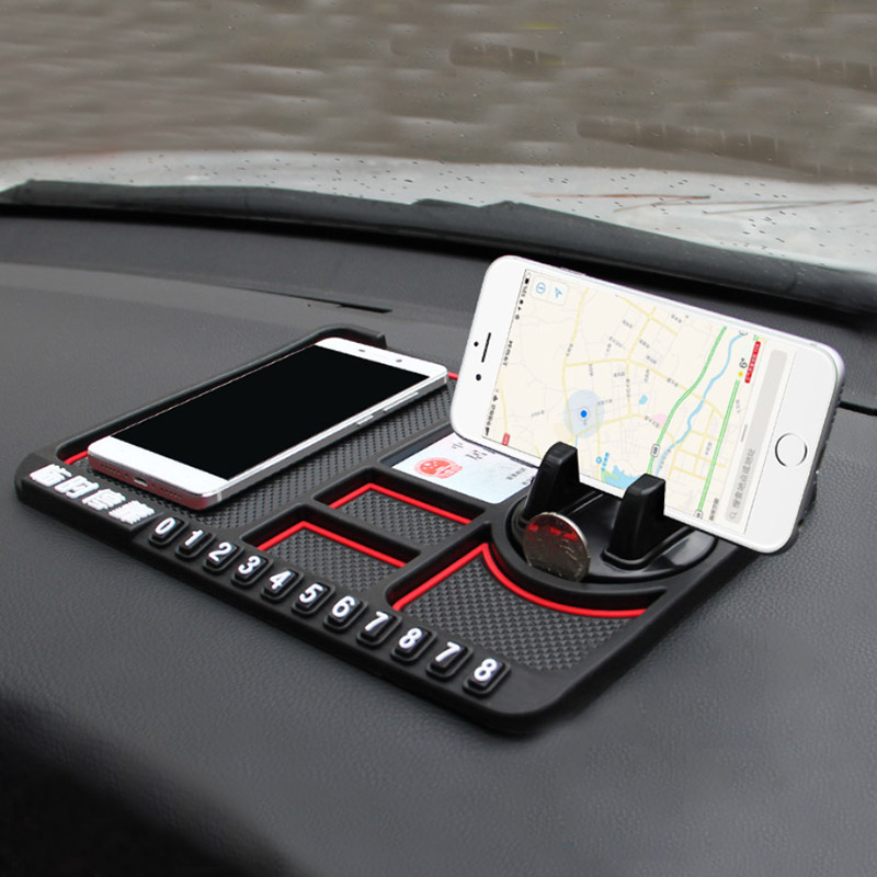 Image 2 - Anti Slip Mat Car Smartphone Stand Car Gadgets And Accessories Sticky Pad For Smart 453 Anti Slip Multi Function Parking Card-in Anti-Slip Mat from Automobiles & Motorcycles