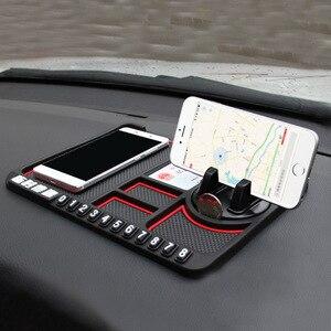 Image 2 - Tapis anti dérapant voiture Smartphone Stand Gadgets de voiture et accessoires Pad collant pour Smart 453 anti dérapant multi fonction carte de stationnement