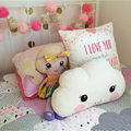 Baby Pillow Toys 2016 New Kids Room Bed Sofa Decoration Smiley Face Big Eyes Cushion Children Sleeping Pillows Dolls 40x26CM