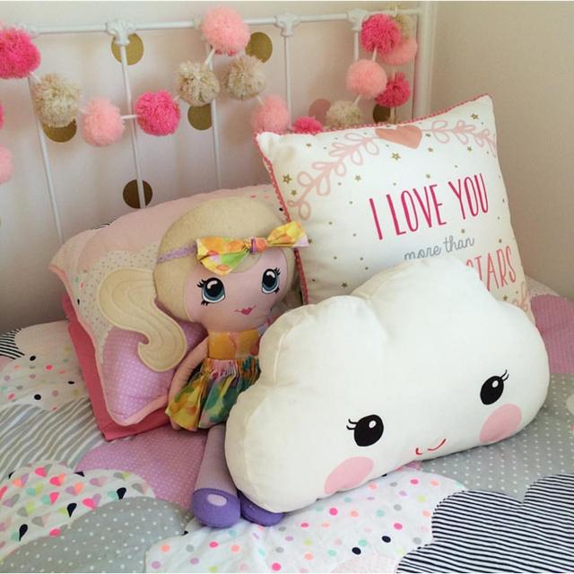 Travesseiro do bebê Brinquedos 2016 New Kids Room Cama Sofá Decoração Smiley Face Olhos Grandes Crianças Almofada De Dormir Travesseiros Bonecas 40x26 CM