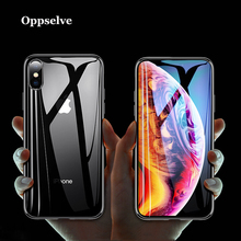 Oppselve Phone Case For iPhone XR XS Max X 10 6 S Clear Tempered Glass 8 7 6s Plus Luxury Silicone Coque